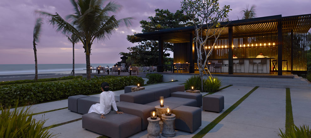 Beach Front View at Luxury Villa Resort in Bali