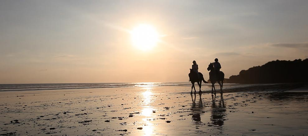 Horse Riding at a Luxury Resort in Bali